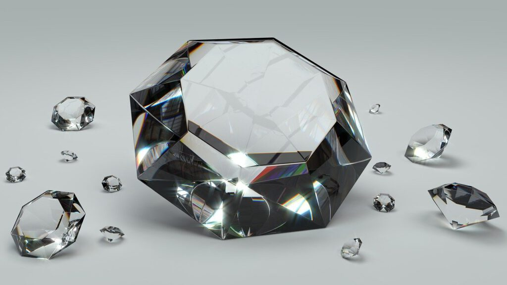 diamond, brilliant, gem